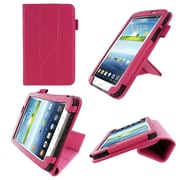 "rOOCASE Origami Slim Shell Case Cover For 7"" Samsung Galaxy Tab 3, Magenta"