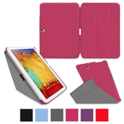 "rOOCASE Origami Slim Shell Case Cover For 10.1"" Samsung Galaxy Note, Magenta"