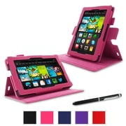 "rOOCASE Dual-View Folio Case For Amazon Kindle Fire HD 7"" (2013), Magenta"