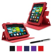 "rOOCASE Dual-View Folio Case For Amazon Kindle Fire HD 7"" (2013), Red"