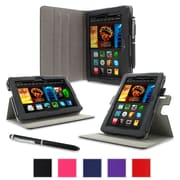 "rOOCASE Dual-View Folio Case For Amazon Kindle Fire HDX 7"", Black"