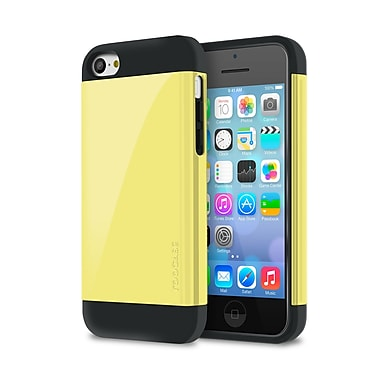 rOOCASE Slim-Fit Dual Layer Case For iPhone 5C, Yellow
