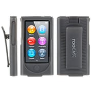 rOOCASE Slim Hybrid Skin Case Cover With Holster For iPod Nano 7, Slate