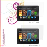 "rOOCASE Anti-Glare HD Screen Protector For 7"" Amazon Kindle Fire HDX, Clear"