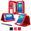 "rOOCASE Executive Carrying Case For 7"" Samsung Galaxy Tab 3 Lite, Red"