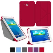 "rOOCASE Origami Slim Shell Case Cover For 7"" Samsung Galaxy Tab 3 Lite, Red"