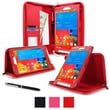 """rOOCASE Executive Carrying Case For 8.4"""" Samsung Galaxy Tab Pro, Red"""