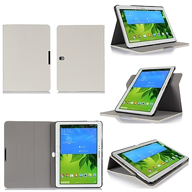 GearIT Spinner Folio Case Cover For Samsung Galaxy Tab Pro 10.1, Cream White
