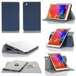 GearIT Spinner Folio Case Cover For Samsung Galaxy Tab Pro 8.4, Dark Blue
