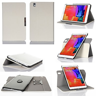 GearIT Spinner Folio Case Cover For Samsung Galaxy Tab Pro 8.4, Cream White