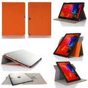 GearIT Spinner Folio Case Cover For Samsung Galaxy Note Pro 12.2, Orange