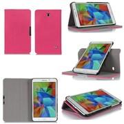 """GearIT Spinner GA7TAB4360SPNMA Twill Fabric Folio Case for 7"""" Galaxy Tab 4, Magenta"""