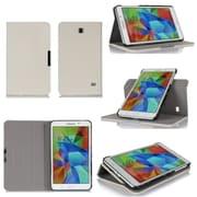 """GearIT Spinner GA7TAB4360SPNCW Twill Fabric Folio Case for 7"""" Galaxy Tab 4, Cream White"""