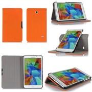 """GearIT Spinner GA7TAB4360SPNOR Twill Fabric Folio Case for 7"""" Galaxy Tab 4, Orange"""