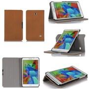 """GearIT Spinner GA7TAB4360SPNBG Twill Fabric Folio Case for 7"""" Galaxy Tab 4, Beige"""