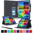 GearIT Spinner Folio Case Cover For Samsung Galaxy Tab 4 8.0, Dark Blue