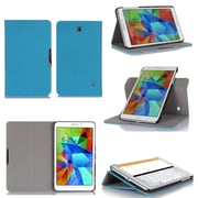 "GearIT Spinner GA8TAB4360SPNBL Twill Fabric Folio Case for 8"" Galaxy Tab 4, Blue"