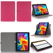 "GearIT Spinner G10TAB4360SPNMA Twill Fabric Folio Case for 10.1"" Galaxy Tab 4, Magenta"