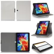 """GearIT Spinner G10TAB4360SPNCW Twill Fabric Folio Case for 10.1"""" Galaxy Tab 4, Cream White"""