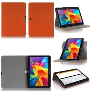 """GearIT Spinner G10TAB4360SPNOR Twill Fabric Folio Case for 10.1"""" Galaxy Tab 4, Orange"""