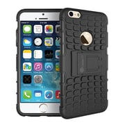"GearIT Apple iPhone 6 4.7"" Heavy Duty Armor Hybrid Rugged Stand Case, Black"