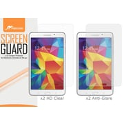rOOCASE Anti-Glare HD Screen Protector For 7 Samsung Galaxy Tab 4, Matte/Clear, 4/Pack