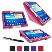 "rOOCASE Origami Case Cover For 10.1"" Samsung Galaxy Tab 3, Magenta"