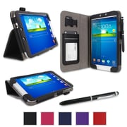 rOOCASE Dual Station Folio Case Cover For Samsung Galaxy Tab 3 8.0 SM-T3100, Black