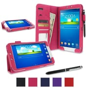 rOOCASE Dual Station Folio Case Cover For Samsung Galaxy Tab 3 8.0 SM-T3100, Magenta