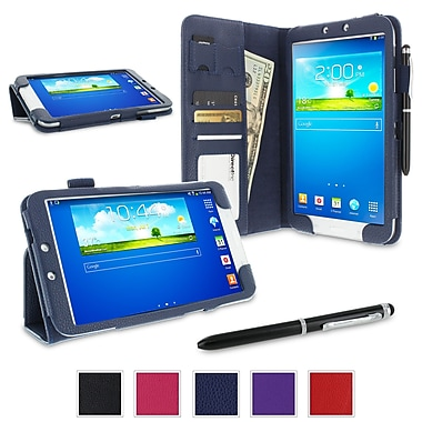 rOOCASE Dual Station Folio Case Cover For Samsung Galaxy Tab 3 8.0 SM-T3100, Navy