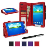 rOOCASE Dual Station Folio Case Cover For Samsung Galaxy Tab 3 8.0 SM-T3100, Red