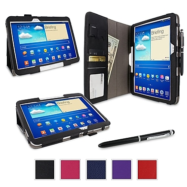 rOOCASE Dual Station Folio Case Cover For Samsung Galaxy Tab 3 10.1 GT-P5210, Black