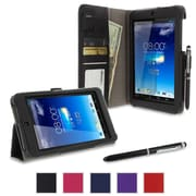 rOOCASE Dual Station Folio Case Cover For Asus MeMO Pad HD 7 ME173X, Black