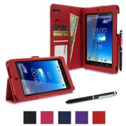 rOOCASE Dual Station Folio Case Cover For Asus MeMO Pad HD 7 ME173X, Red