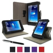 rOOCASE Dual-View Folio Case Cover For Asus MeMO Pad HD 7 ME173X, Black