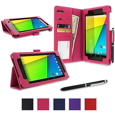 rOOCASE Dual Station Case Cover For Google Nexus 7 FHD, Magenta