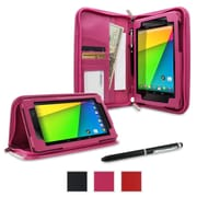 rOOCASE Executive Case Cover For Google Nexus 7 FHD, Magenta