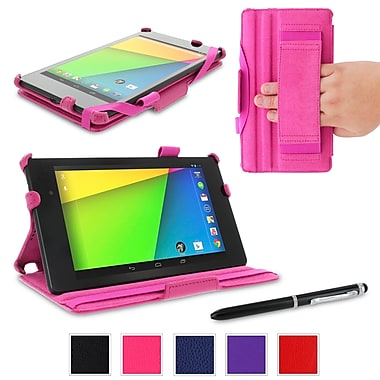 rOOCASE Slim-Fit Case Cover For Google Nexus 7 FHD, Magenta