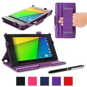 rOOCASE Slim-Fit Case Cover For Google Nexus 7 FHD, Purple