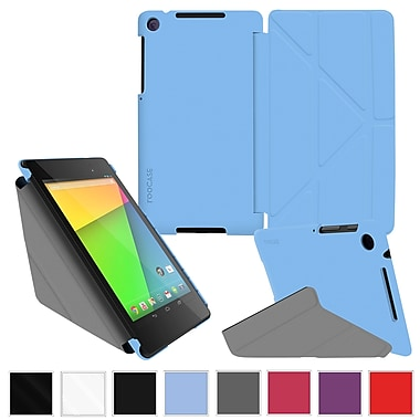 rOOCASE Origami Slim Shell Case Cover For Google Nexus 7 FHD, Blue