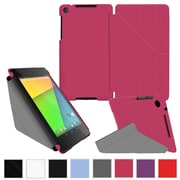 rOOCASE Origami Slim Shell Case Cover For Google Nexus 7 FHD, Magenta