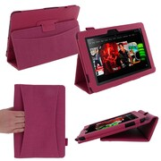 rOOCASE Dual Station Folio Case For 8.9 Amazon Kindle Fire HD, Magenta