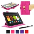"rOOCASE Slim-Fit Folio Case Cover For Amazon Kindle Fire HDX 7"", Magenta"