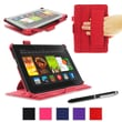 "rOOCASE Slim-Fit Folio Case Cover For Amazon Kindle Fire HDX 7"", Red"