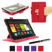 rOOCASE Slim-Fit Folio Case Cover For Amazon Kindle Fire HDX 7, Red