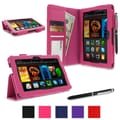 rOOCASE Dual Station Folio Case Cover For Amazon Kindle Fire HDX 7in., Magenta