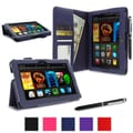 rOOCASE Dual Station Folio Case Cover For Amazon Kindle Fire HDX 7in., Navy