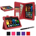 rOOCASE Dual Station Folio Case Cover For Amazon Kindle Fire HDX 7in., Red