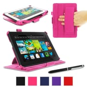 "rOOCASE Slim-Fit Case Cover For 7"" Amazon Kindle Fire HD, Magenta"