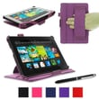 "rOOCASE Slim-Fit Case Cover For 7"" Amazon Kindle Fire HD, Purple"